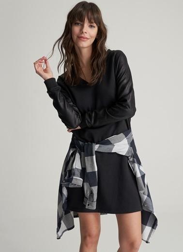 Kolu Kaplamalı Sweat Elbise-Agenda